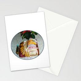 Carreau de dentellière du Val d'Allier et plante fleurie Stationery Cards