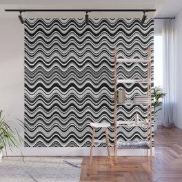 Elegant black and white waves Wall Mural