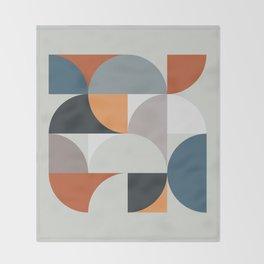 Mid Century Geometric 11 Throw Blanket