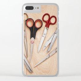 Few various scissors bunch Clear iPhone Case
