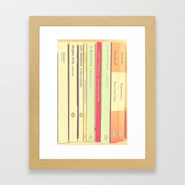 Reading the Classics Framed Art Print