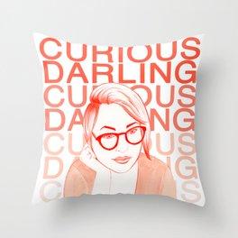 Danielle as Curious Darling Throw Pillow