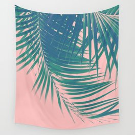 Palm Leaves Blush Summer Vibes #2 #tropical #decor #art #society6 Wall Tapestry