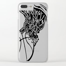BASKETBALL MOM Clear iPhone Case