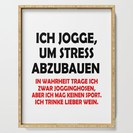 Jogge - Sport - Wein - Stress Serving Tray