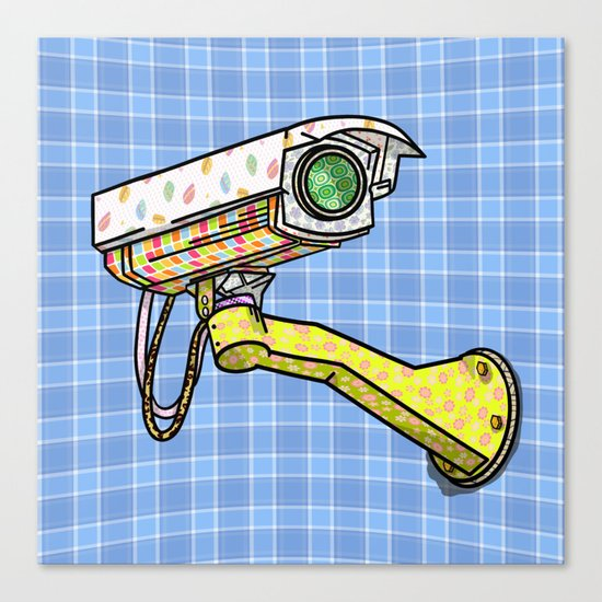 Security Camera Canvas Print