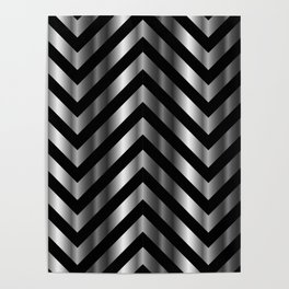 High grade raw material stainless steel and black zigzag stripes Poster