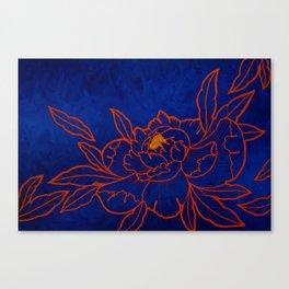 Amber Peony Canvas Print