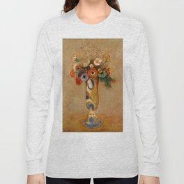"Odilon Redon ""Wildflowers in a Long Necked Vase"" Long Sleeve T-shirt"