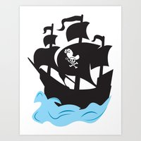 pirate ship Art Prints featuring Pirate Ship by Anthony Rocco