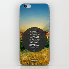 Proverbs 20:22 Wait on the Lord iPhone Skin