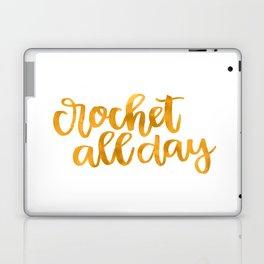 Crochet All Day - Mustard Laptop & iPad Skin
