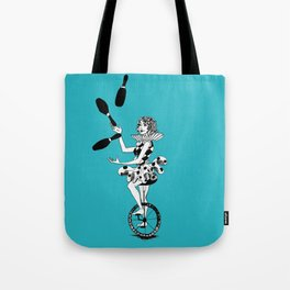 Juggling Unicyclist Tote Bag
