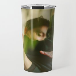 Dancing people, dance, shadows, hands and plants, blurred photography, dancers, forest, yoga Travel Mug