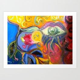 One eye Open Art Print
