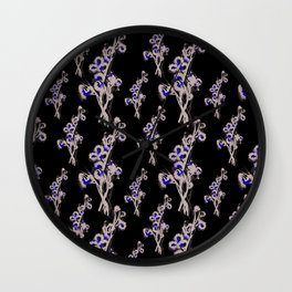 Flower Bushel Wall Clock