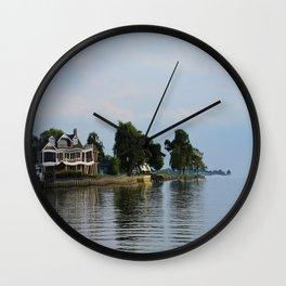 Crooked Boathouse Wall Clock