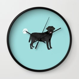 Black Lab funny fart dog breed gifts labrador retrievers Wall Clock