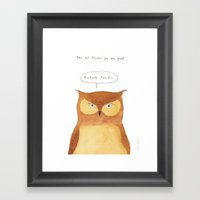 This owl thinks you're great Framed Art Print