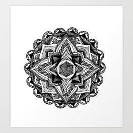 Mandala Circles Art Print