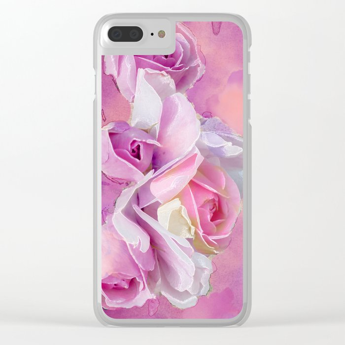 Romantic rose(12) Clear iPhone Case