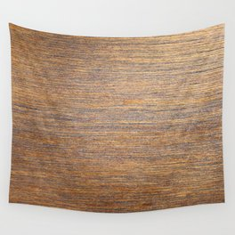 Rustic brown gold wood texture Wall Tapestry