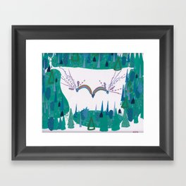 Whimsy, Forest Clearing Framed Art Print