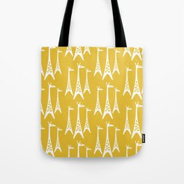 Mid Century Modern Giraffe Pattern 221 Mustard Yellow Tote Bag