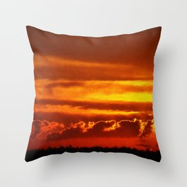 Sunset Layers | Ferntree Gully Throw Pillow