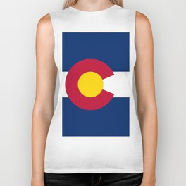 Colorado State Flag Biker Tank