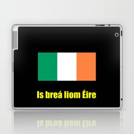 flag of ireland 8 -ireland,eire,airlann,irish,gaelic,eriu,celtic,dublin,belfast,joyce,beckett Laptop & iPad Skin