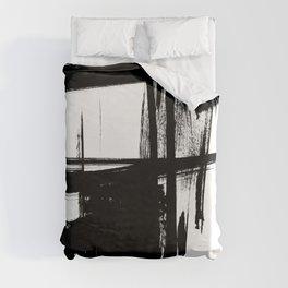Black Brush Strokes Modern Minimalist Abstract Painting Art, nr 12 Duvet Cover