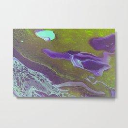 Dirty Acrylic Paint Pour 32, Fluid Art Reproduction Metal Print