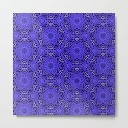 Purple Passion Pattern Metal Print