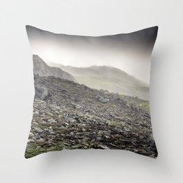 Welsh Hills of Snowdonia Throw Pillow