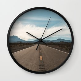Vanishing Road Wall Clock