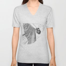Blackbeard's Head Being hung from the Bow Unisex V-Neck