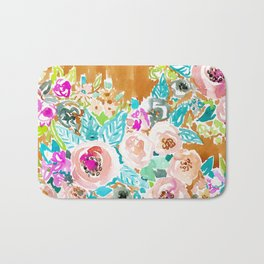 SO LUSCIOUS Colorful Abstract Floral Bath Mat