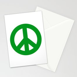 Green Peace Sign, Power of Peace, Power of Love, Social Justice Warrior, Super Sharp PNG Stationery Cards