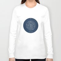 doctor Long Sleeve T-shirts featuring Doctor Who: Wibbly Wobbly by Sof Andrade