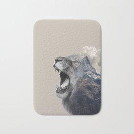 Mountain Lion Face Bath Mat