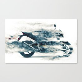 Dynamic motorcycle Canvas Print