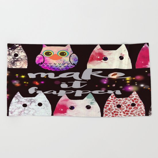 cat-909 Beach Towel