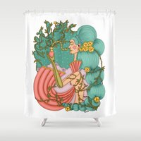 perfume Shower Curtains featuring Perfume by József Vass