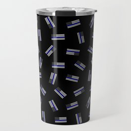 Police Flag Pattern Travel Mug