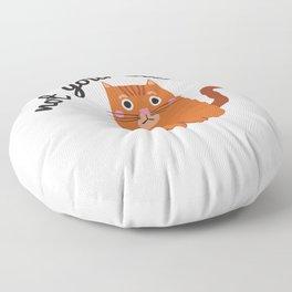 Feminist Cat Floor Pillow