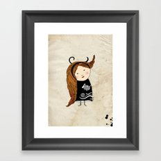 Aries girl Framed Art Print