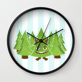 Tree Monster Forest Wall Clock