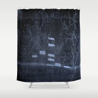 study Shower Curtains featuring Bio Study by stefani187