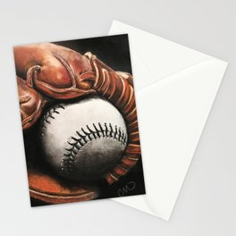 Baseball and Glove Stationery Cards